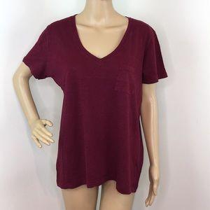 Madewell Maroon T-Shirt